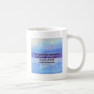 Inspirational Milton quote Paradise Lost Coffee Mug