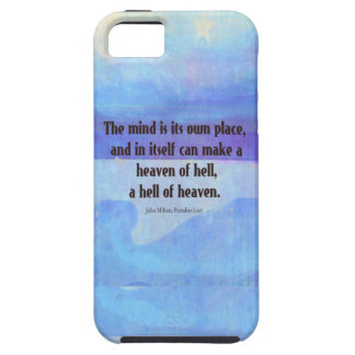 Inspirational Milton quote Paradise Lost iPhone 5 Cover