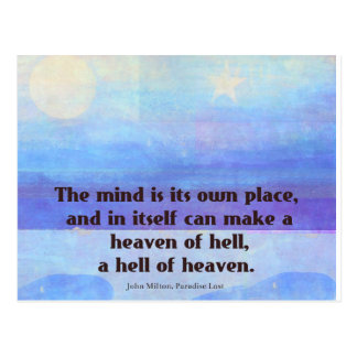 Inspirational Milton quote Paradise Lost Postcard