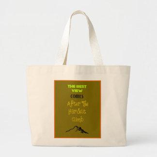 Inspirational Motivating Hiking Quote Typography Jumbo Tote Bag