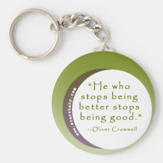 Inspirational Motivating Quote for Winners Keychain