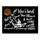 Inspirational Motivational night stars post card
