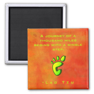 Inspirational Motivational Wisdom by Lao Tzu Square Magnet