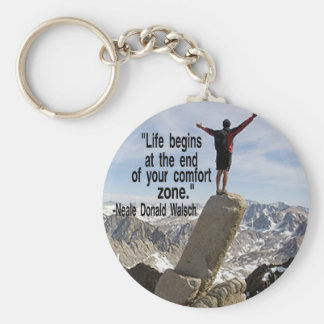 Inspirational Mountain Climbing Keychain