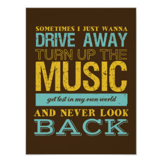 Inspirational Music Poster Freedom and Escape