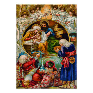 Inspirational Nativity Scene Poster
