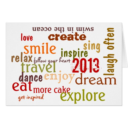 inspirational new year 2013 greeting card