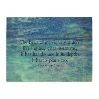 Inspirational ocean sea quote wood wall art