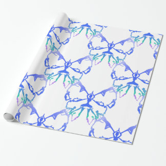 Inspirational or Motivational Yoga poses Wrapping Paper