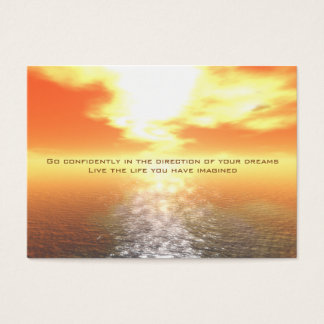 Inspirational Orange Sunset Card