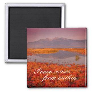 "Inspirational ""Peace"" Utah Landscape Magnet"