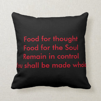 Inspirational Pillow/Cushion. Front red/back black Throw Pillow