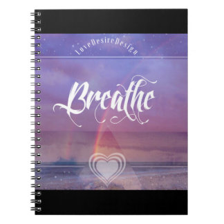Inspirational Positive Vibes Series Breathe Spiral Notebook