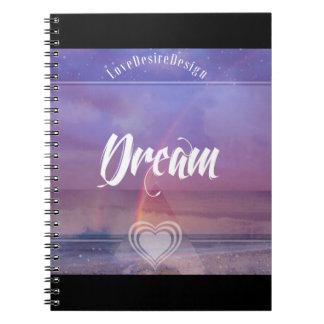 Inspirational Positive Vibes Series Dream Spiral Notebook