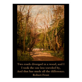 Inspirational postcard Quote Robert Frost