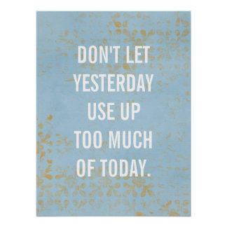 inspirational poster, typography, custom blue poster