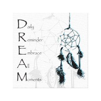 Inspirational Powerful Dream Catcher Affirmation Canvas Print