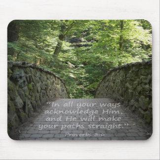 Inspirational (Prov. 3:6) Mouse Pad