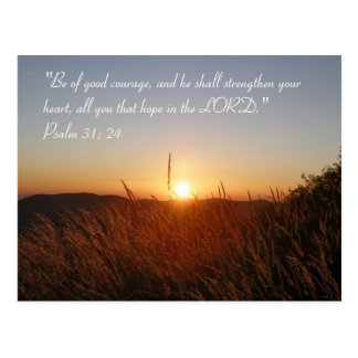 Inspirational | Psalm 31:24 Postcard