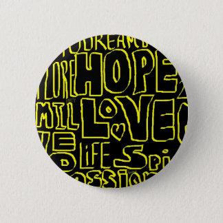 Inspirational punk art 2 inch round button