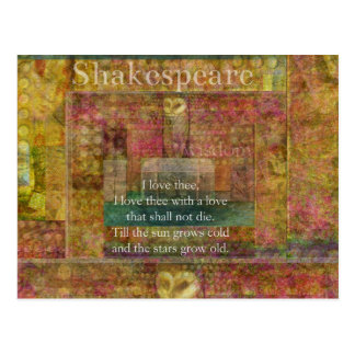 Inspirational quote about love by Shakespeare Postcard