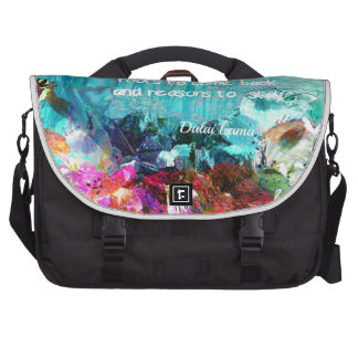 Inspirational quote among corals bag for laptop
