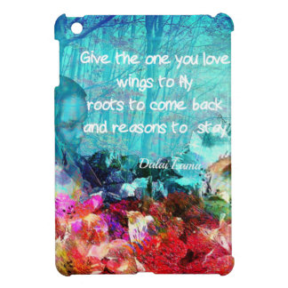 Inspirational quote among corals iPad mini cover