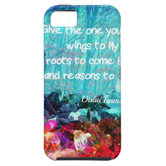 Inspirational quote among corals iPhone 5 case