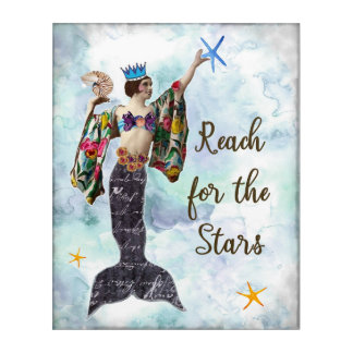 Inspirational quote art reach for the stars