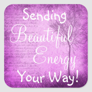 Inspirational Quote Beautiful Energy  Sticker