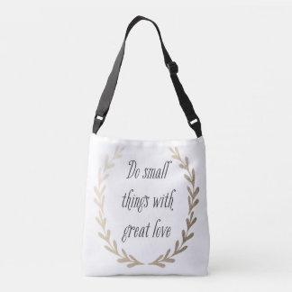 Inspirational Quote Crossbody Bag