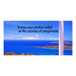 Inspirational Quote Customized Photo Card