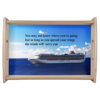 Inspirational quote Finding your way through life Serving Tray