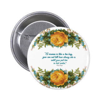 Inspirational Quote for Women by Nancy Reagan 2 Inch Round Button