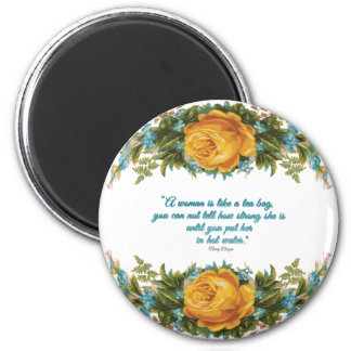 Inspirational Quote for Women by Nancy Reagan 2 Inch Round Magnet