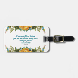 Inspirational Quote for Women by Nancy Reagan Bag Tag