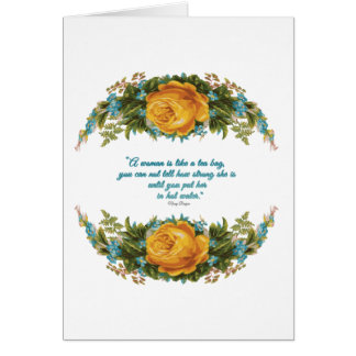 Inspirational Quote for Women by Nancy Reagan Card