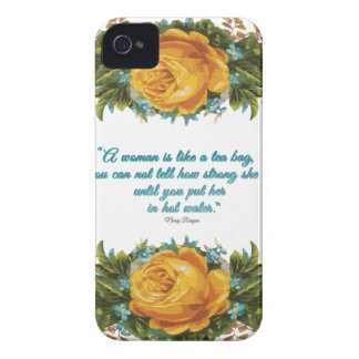 Inspirational Quote for Women by Nancy Reagan iPhone 4 Case-Mate Case