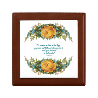 Inspirational Quote for Women by Nancy Reagan Keepsake Box