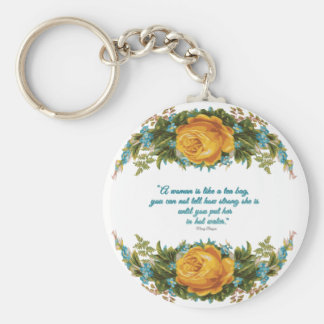Inspirational Quote for Women by Nancy Reagan Keychain