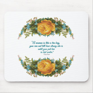 Inspirational Quote for Women by Nancy Reagan Mouse Pad