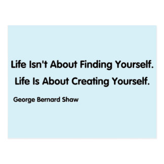 Inspirational Quote - George Bernard Shaw Postcard