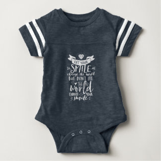 Inspirational Quote Happy Smile Change The World Baby Bodysuit