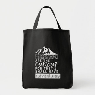 Inspirational Quote Hiking Travel and Adventures Tote Bag