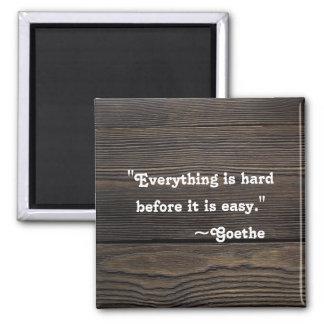 Inspirational Quote | Motivational Goethe Magnet