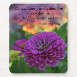 Inspirational quote mousepads flower gifts