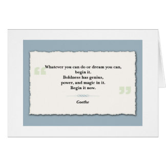 Inspirational Quote Note Card - Ripped Paper
