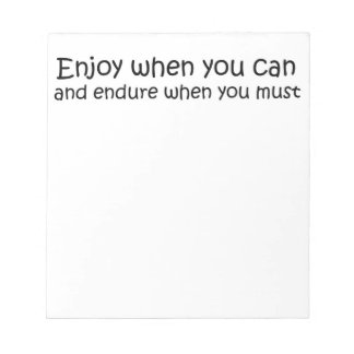 Inspirational quote notepad unique gift idea gifts