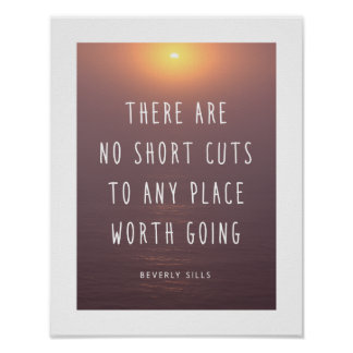 Inspirational Quote Ocean Photography Poster