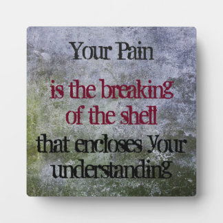 Inspirational Quote on a Grunge Style Texture Plaque